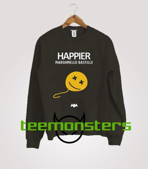 Marshmello Bastille Happier: Happier Marshmello Bastille Sweatshirt