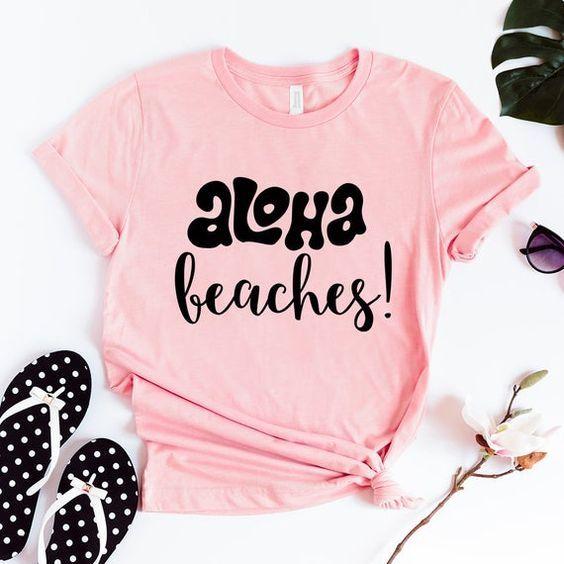 Aloha Beaches Bridal T-Shirt ZX03