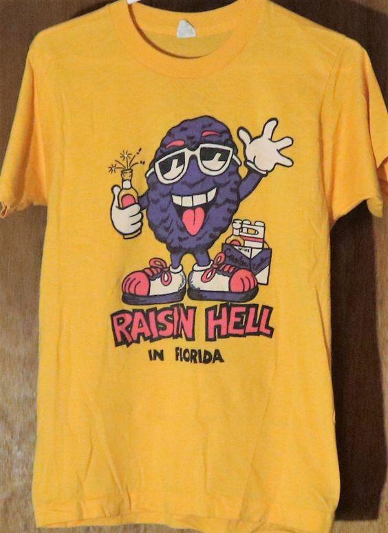 Vintage New Raisin Hell in Florida T-Shirt ADR