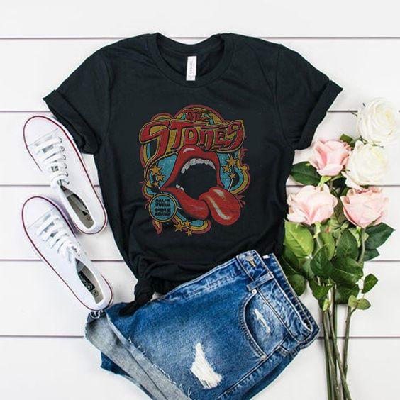 Vintage Tongue Rolling Stones t shirt ADR