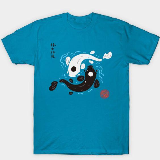 Yin-Yang Koi Fish Avatar the Last Airbender t shirt ADR