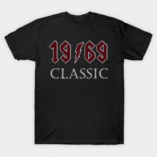 Top 50th Birthday Rock 1969 Classic Gift Design T-Shirt ADR