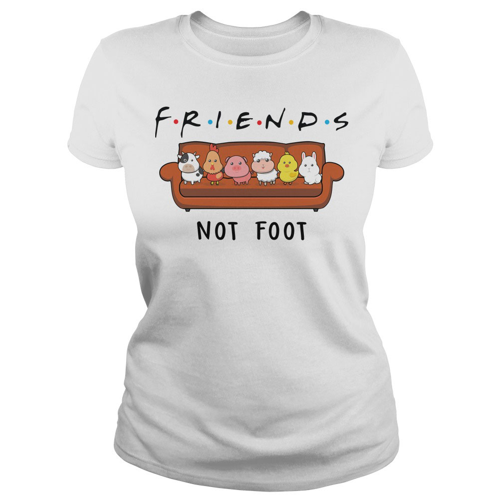 Friends TV Show - Animal Are Friends Not Food T shirt IGS